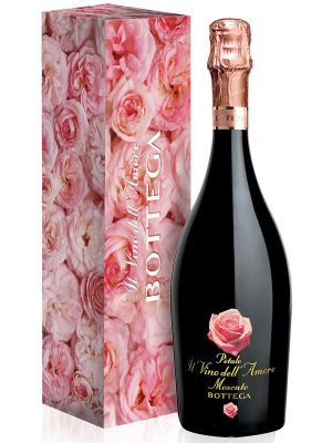 Bottega Moscato Il Vino Dell Amore Gift Box with Roses
