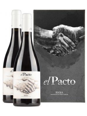 El Pacto Rioja Crianza in luxe geschenkverpakking (2 flessen)