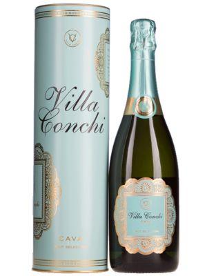 Villa Conchi Brut Seleccion in luxe metalen geschenkverpakking