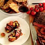 Biefstuk met gegrilde groente en Merwida Cabernet Sauvignon