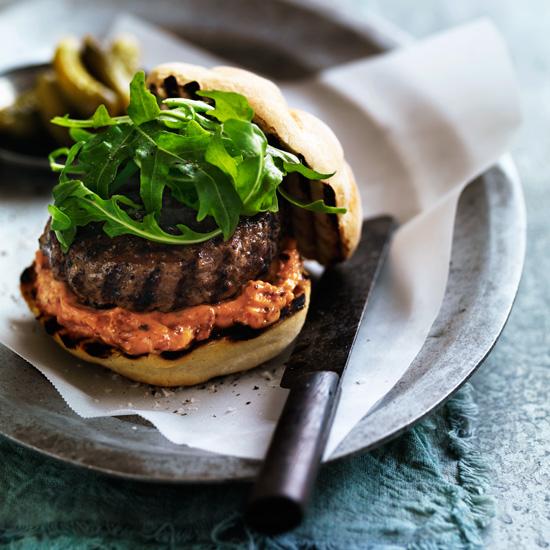 BLT burger met Roble Malbec
